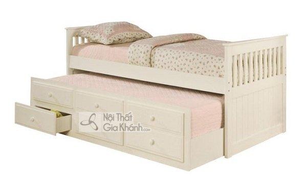 giường ngủ màu trắng kem cực đẹp