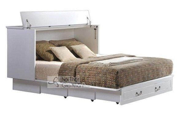 giường ngủ sơn trắng sáng tạo