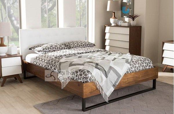 giường ngủ màu trắng gỗ tự nhiên