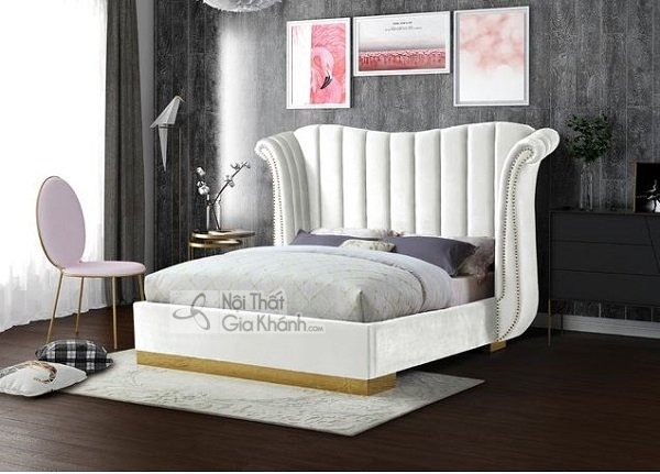 giường ngủ màu trắng cách điệu