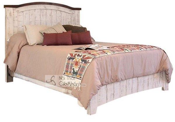 giường ngủ gỗ trắng hồng