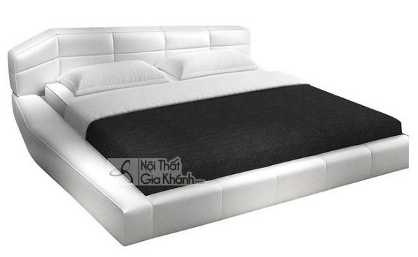 thiết kế giường trắng sáng tạo