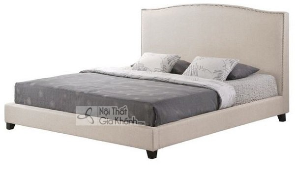 giường ngủ màu trắng xám
