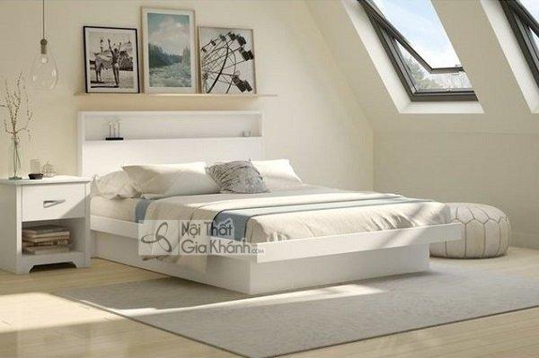 giường hộp trắng thanh lịch