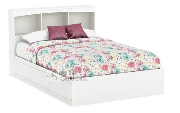 giường hộp màu trắng cao cấp