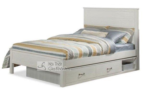 giường ngủ màu trắng nhẹ nhàng