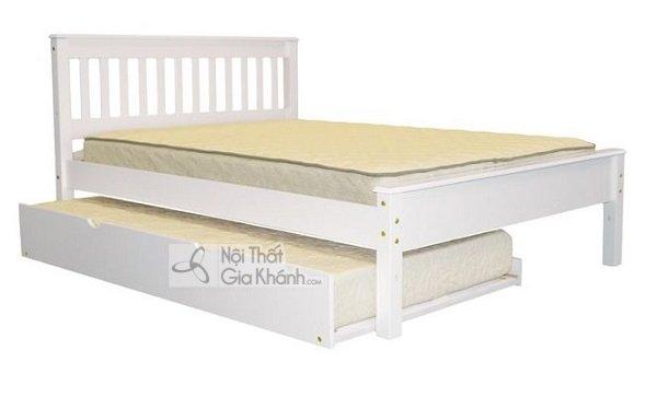giường ngủ màu trắng có khóa 2 ngăn