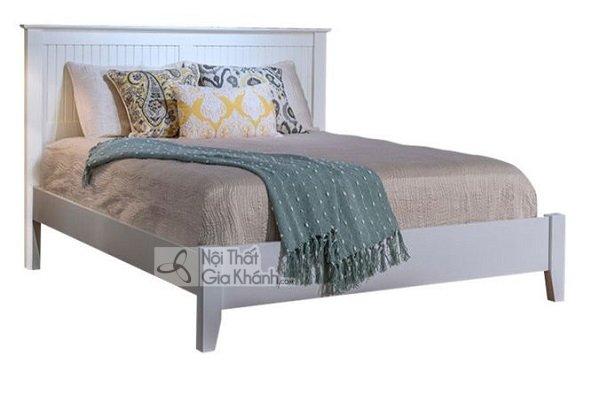 giường trắng gỗ tự nhiên