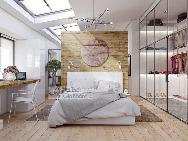 giường trắng kết hợp kính trong suốt
