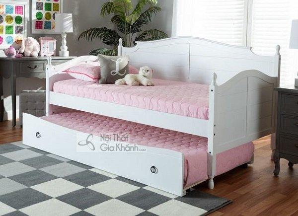 Mẫu giường 2 tầng màu trắng