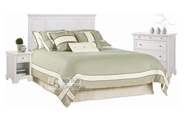 Giường hiện đại đẹp màu trắng