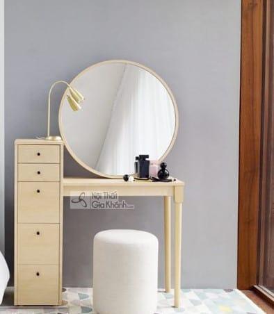 Mẫu bàn trang điểm gương tròn đẹp nàng nào cũng mê đắm - mau ban trang diem guong tron dep nang nao cung me dam 1 2