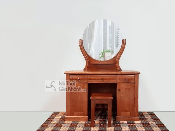 Mẫu bàn trang điểm gương tròn đẹp nàng nào cũng mê đắm - mau ban trang diem guong tron dep nang nao cung me dam 1