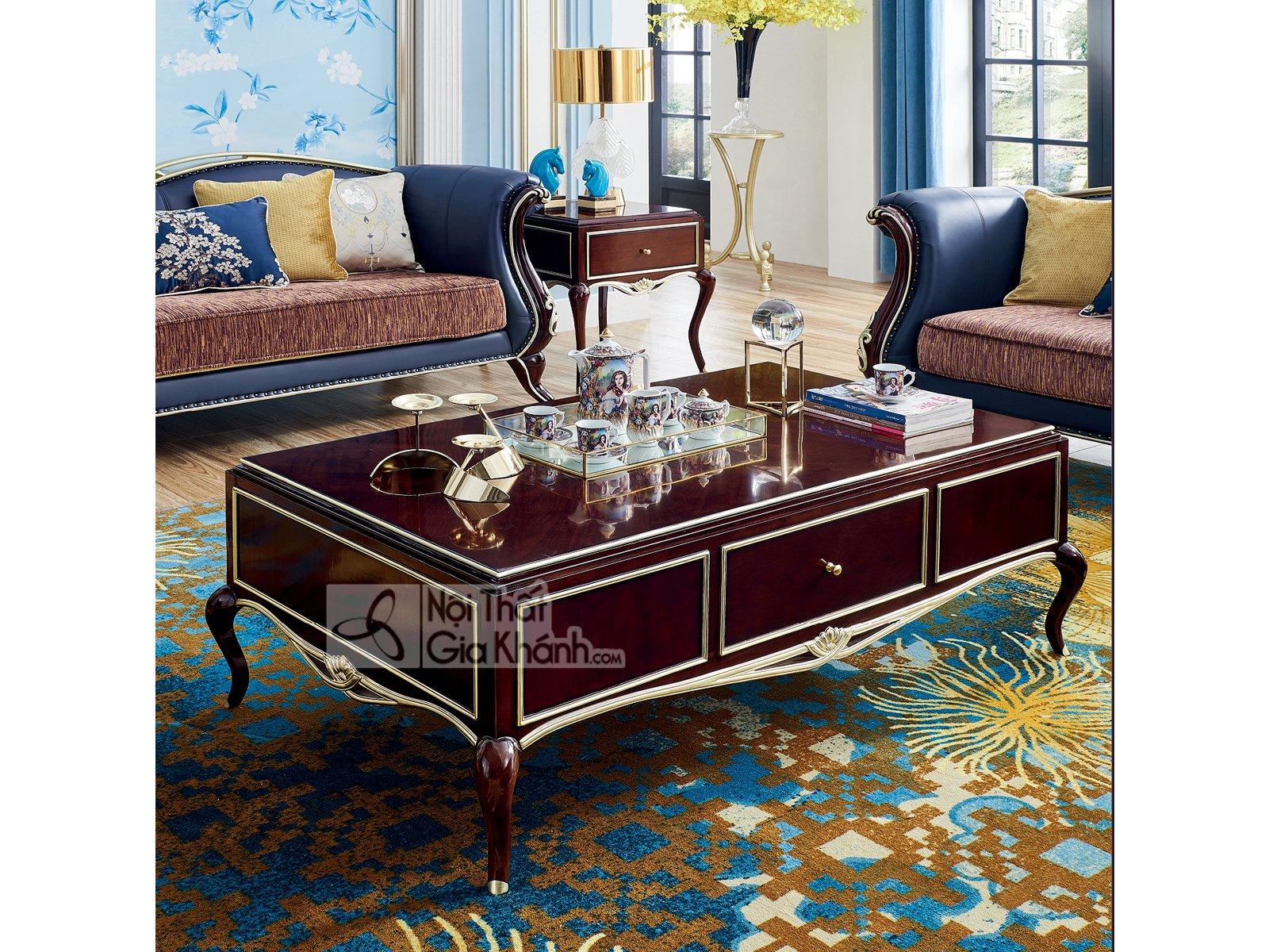 Bàn sofa gỗ tân cổ điển sang trọng BT303-15