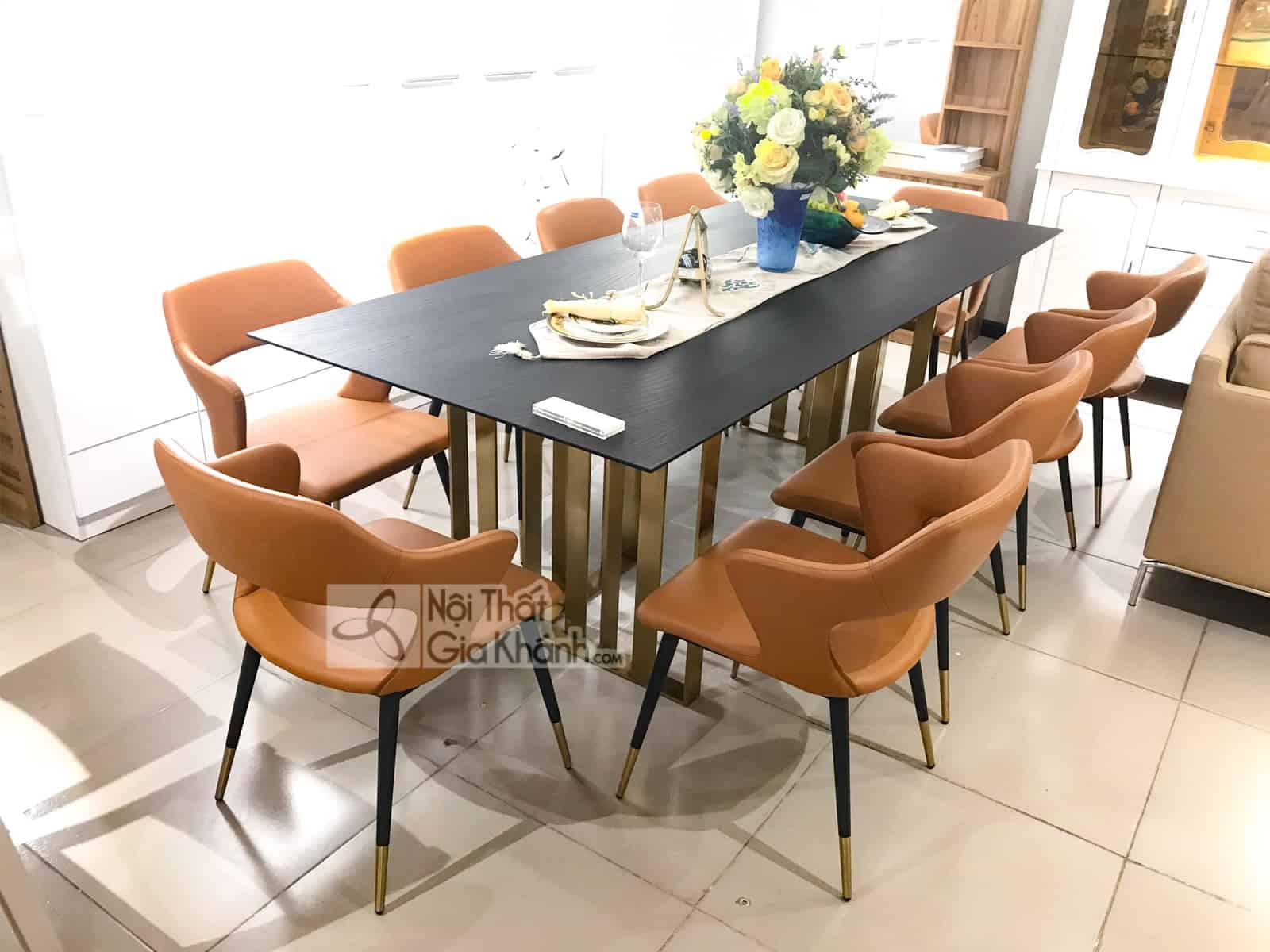 Bộ bàn ăn 2m4 mặt gỗ nhập khẩu PA1865G-24
