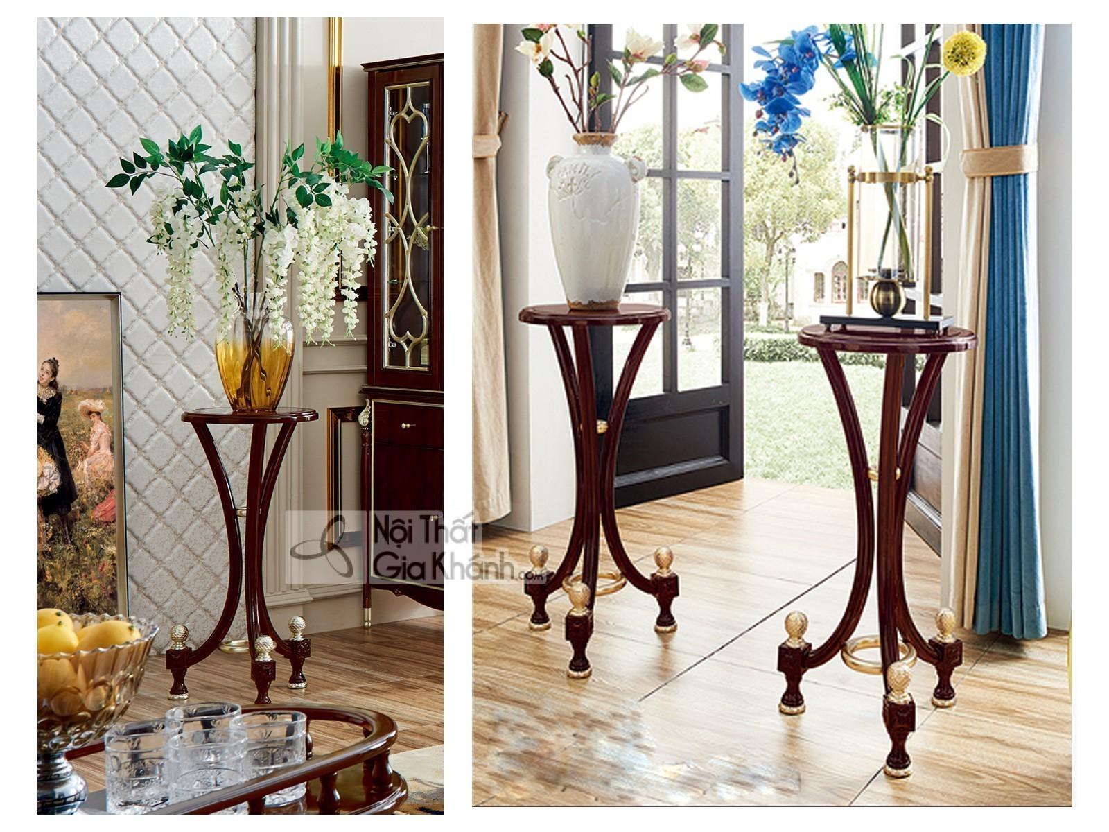 Đôn hoa gỗ tân cổ điển đơn giản DH301