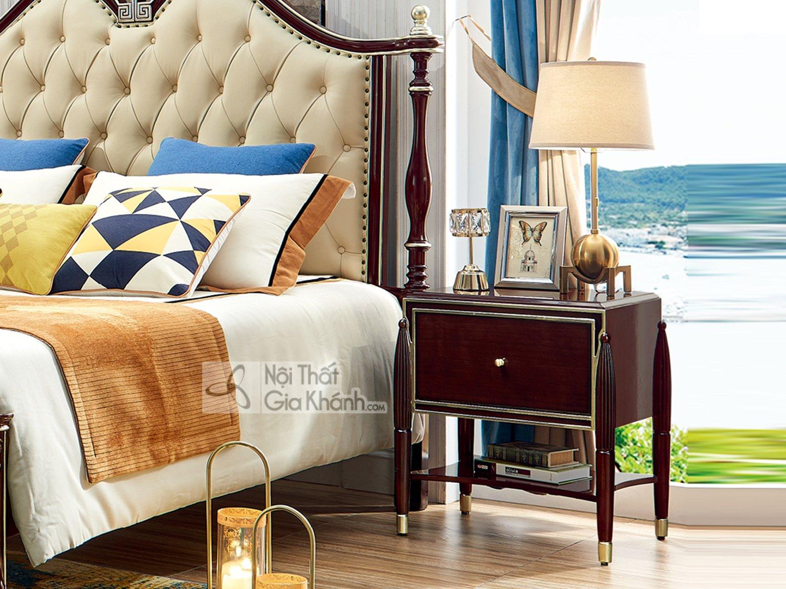 Tủ đầu giường gỗ tân cổ điển đơn giản TA302