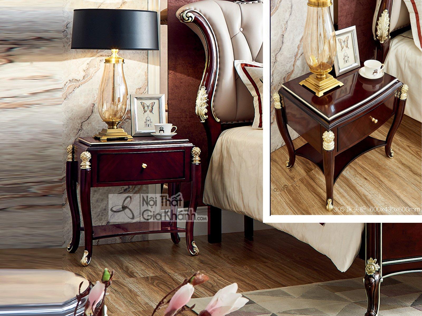 Tủ đầu giường gỗ tân cổ điển TA305