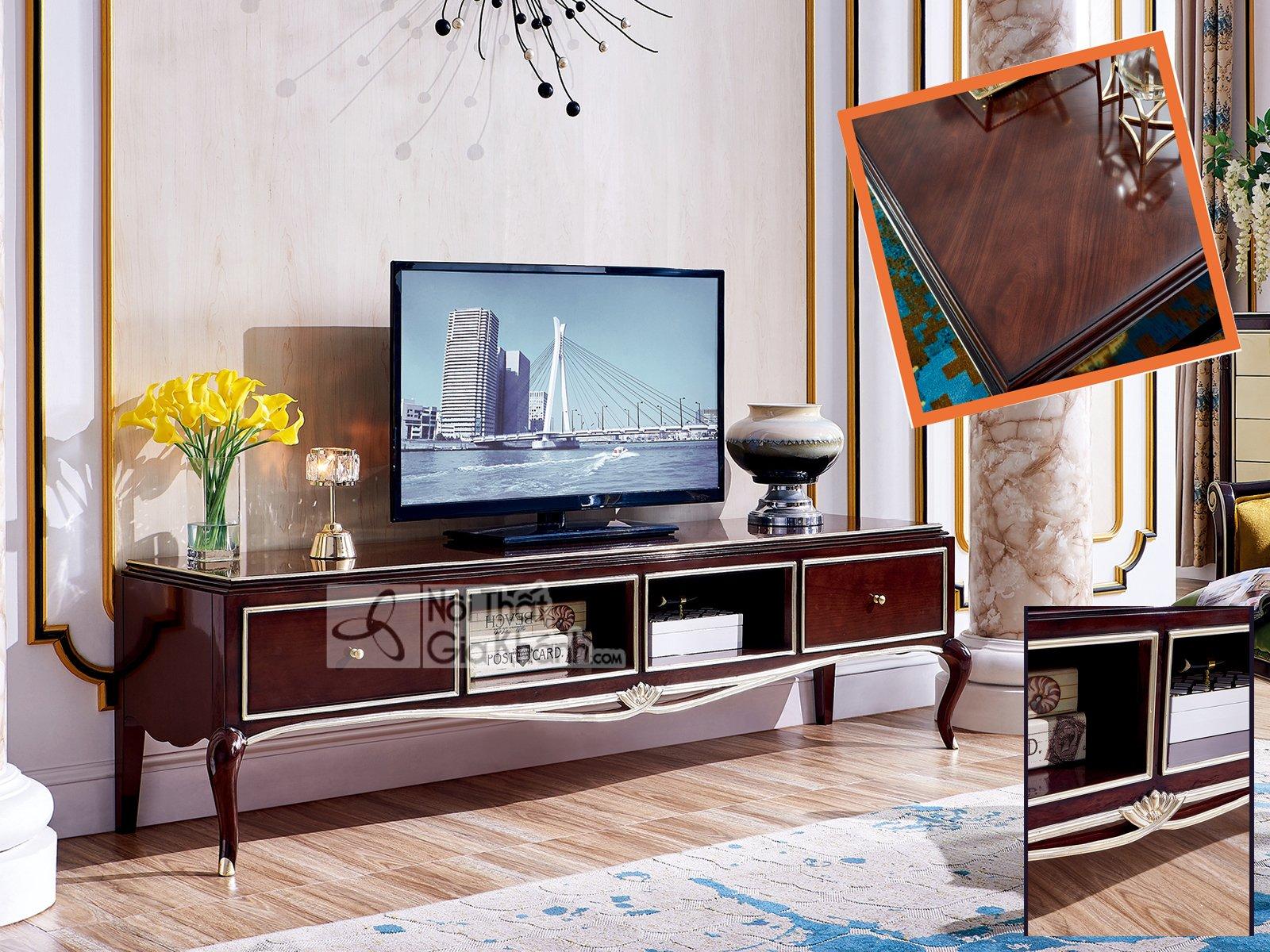 Kệ tivi đẹp phong cách tân cổ điển đơn giản KT303-20