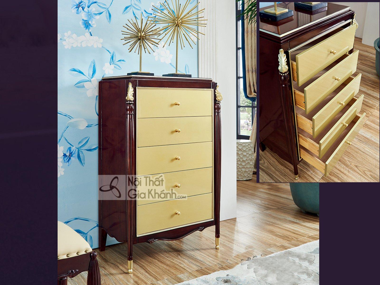 Tủ ngăn kéo sang trong phong cách tân cổ điển TK301-5
