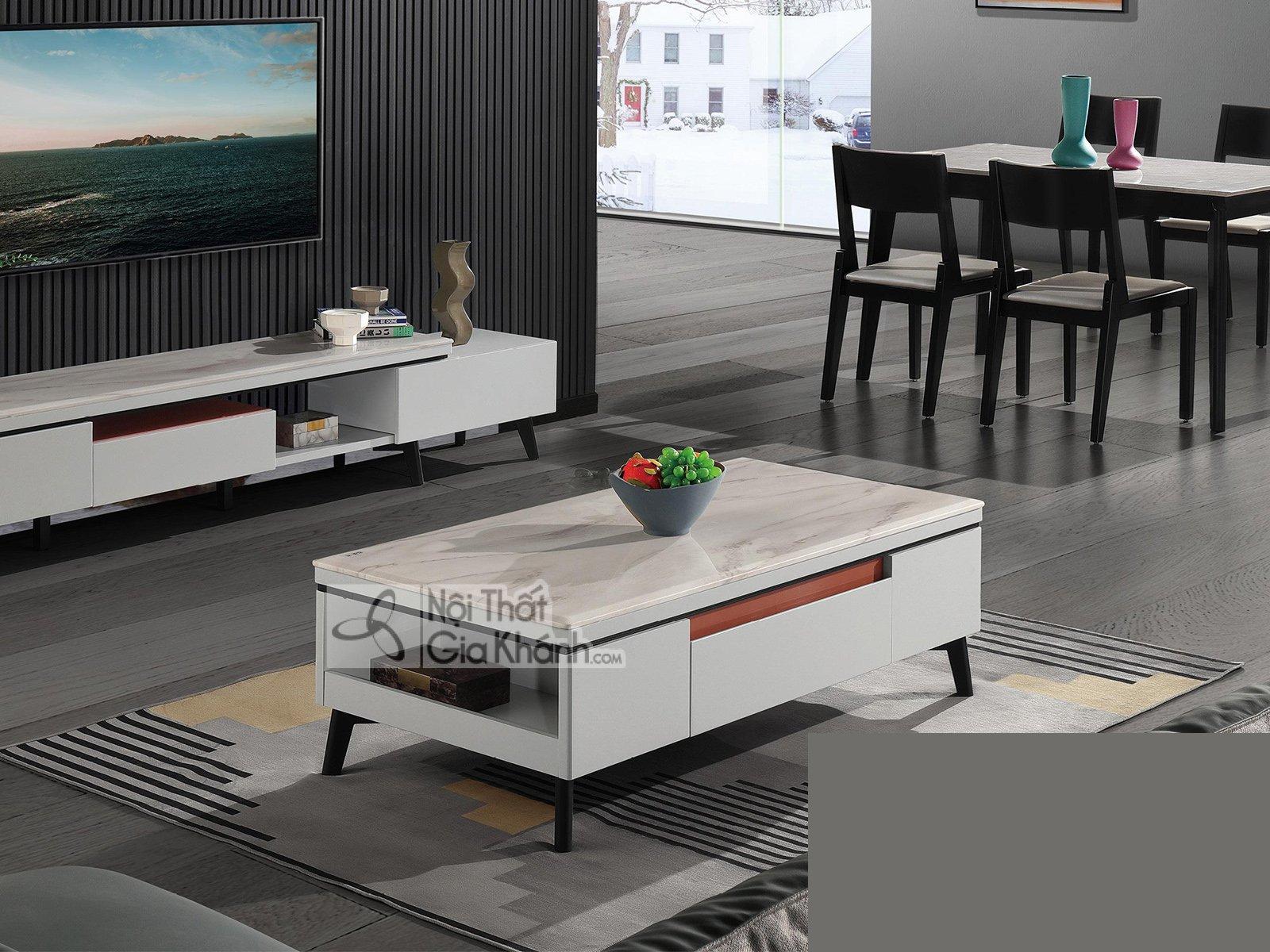 Bàn trà sofa mặt đá cho phòng khách BT5003D-135