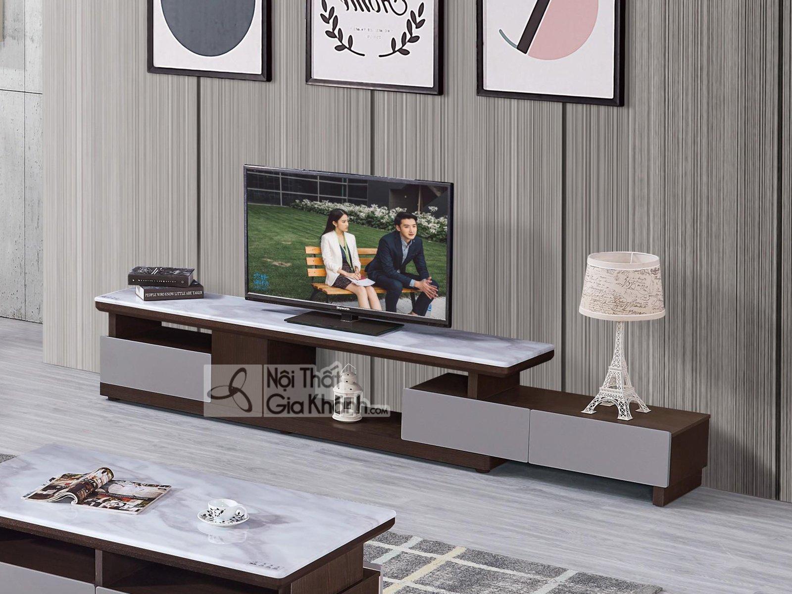 Kệ ti vi đẹp mặt đá cho phòng khách KT5935-2D