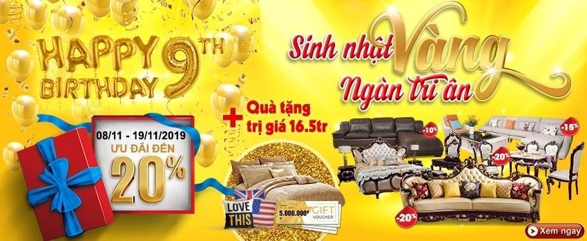 Siêu thị nội thất nhập khẩu top 1 Hà Nội - mung sinh nhat lan thu 9 sinh nhat vang – ngan tri an 1