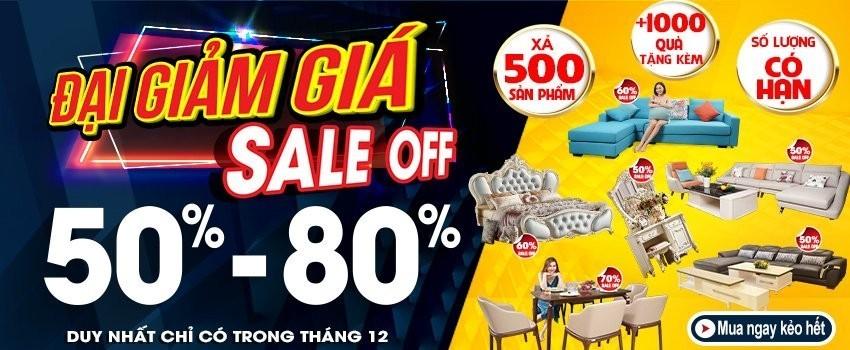 Siêu thị nội thất nhập khẩu top 1 Hà Nội - banner hang xa thang 12 lan 2 1
