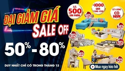 Siêu thị nội thất nhập khẩu top 1 Hà Nội - banner hang xa thang 12 lan 2 2