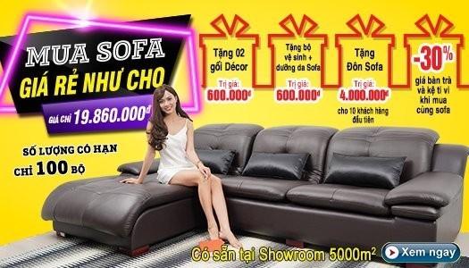 Siêu thị nội thất nhập khẩu top 1 Hà Nội - banner xa sofa da hien dai 12 2019 mb