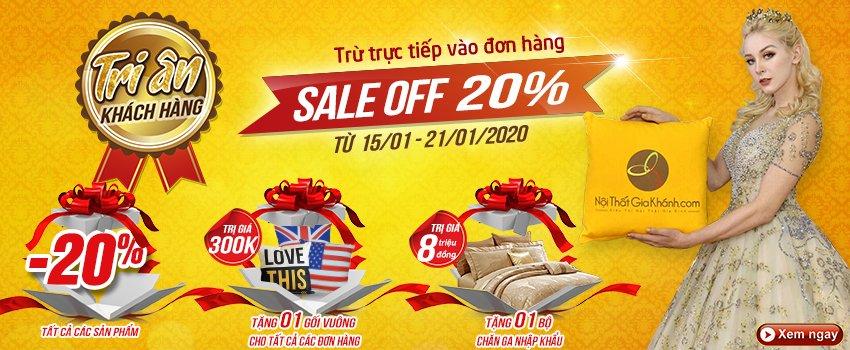 Siêu thị nội thất nhập khẩu top 1 Hà Nội - banner km 20 thang 1 pc 2