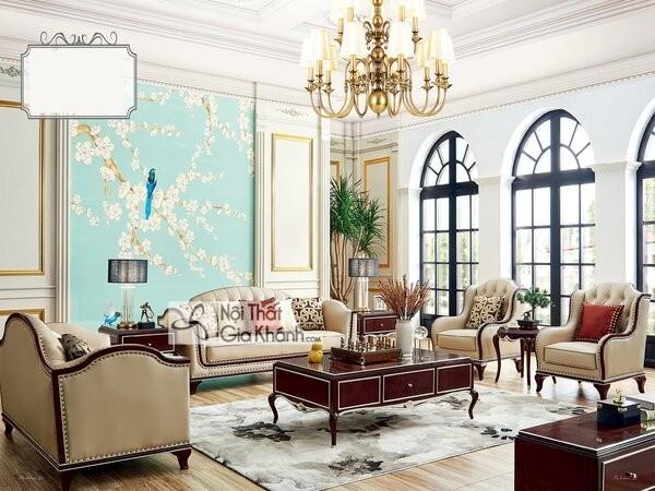 sofa hoàng gia phong cách tân cổ điển