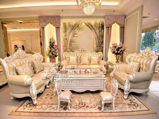 [BST] 35 Ghế sofa màu trắng kem đẹp mê ly cho phòng khách - bst 35 ghe sofa mau trang kem dep me ly cho phong khach 1