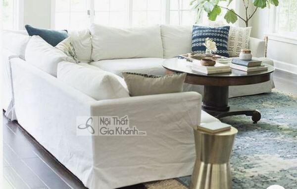 [BST] 35 Ghế sofa màu trắng kem đẹp mê ly cho phòng khách - bst 35 ghe sofa mau trang kem dep me ly cho phong khach 10