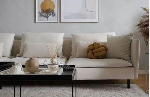 [BST] 35 Ghế sofa màu trắng kem đẹp mê ly cho phòng khách - bst 35 ghe sofa mau trang kem dep me ly cho phong khach 9