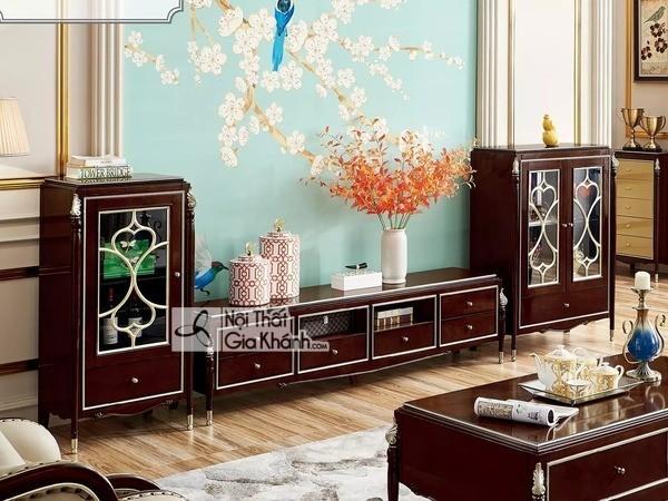 Giới thiệu top 30 mẫu kệ tivi phòng khách gỗ tự nhiên đẹp và chất lượng - gioi thieu top 30 mau ke tivi phong khach go tu nhien dep va chat luong 3