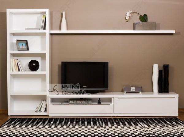 Mua ngay 35 mẫu kệ tivi màu trắng siêu đẹp giúp không gian nhà thêm sang trọng - mua ngay 50 mau ke tivi mau trang sieu dep giup khong gian nha them sang trong 17