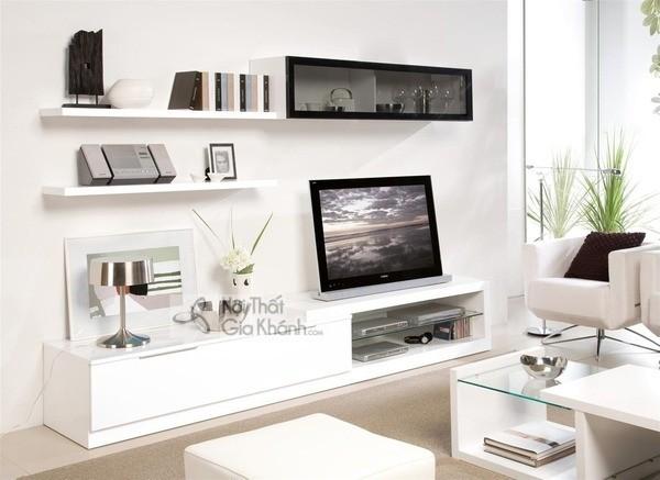 Mua ngay 35 mẫu kệ tivi màu trắng siêu đẹp giúp không gian nhà thêm sang trọng - mua ngay 50 mau ke tivi mau trang sieu dep giup khong gian nha them sang trong 18
