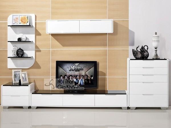 Mua ngay 35 mẫu kệ tivi màu trắng siêu đẹp giúp không gian nhà thêm sang trọng - mua ngay 50 mau ke tivi mau trang sieu dep giup khong gian nha them sang trong 25