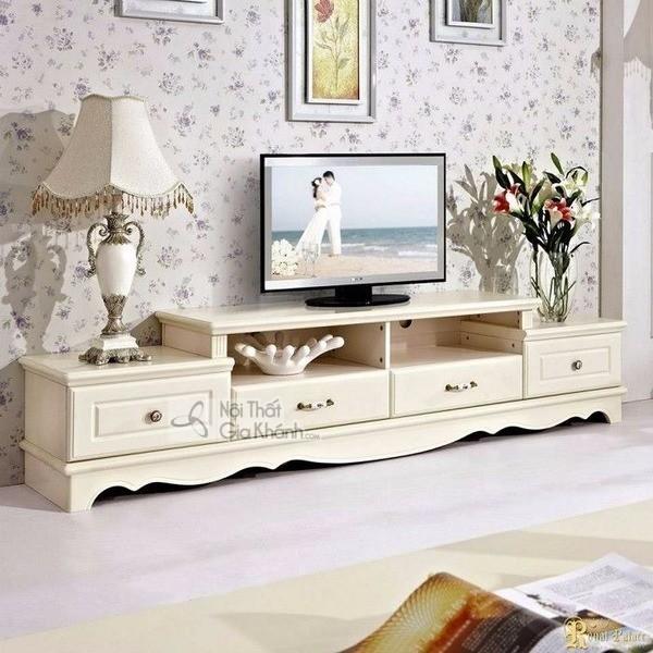 Mua ngay 35 mẫu kệ tivi màu trắng siêu đẹp giúp không gian nhà thêm sang trọng - mua ngay 50 mau ke tivi mau trang sieu dep giup khong gian nha them sang trong 31
