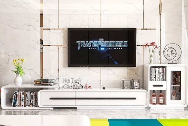 Mua ngay 35 mẫu kệ tivi màu trắng siêu đẹp giúp không gian nhà thêm sang trọng - mua ngay 50 mau ke tivi mau trang sieu dep giup khong gian nha them sang trong 41