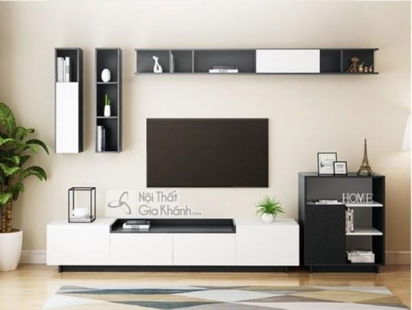 Mua ngay 35 mẫu kệ tivi màu trắng siêu đẹp giúp không gian nhà thêm sang trọng - mua ngay 50 mau ke tivi mau trang sieu dep giup khong gian nha them sang trong 47