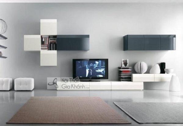 Mua ngay 35 mẫu kệ tivi màu trắng siêu đẹp giúp không gian nhà thêm sang trọng - mua ngay 50 mau ke tivi mau trang sieu dep giup khong gian nha them sang trong 48