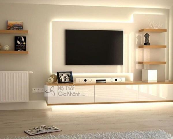 Mua ngay 35 mẫu kệ tivi màu trắng siêu đẹp giúp không gian nhà thêm sang trọng - mua ngay 50 mau ke tivi mau trang sieu dep giup khong gian nha them sang trong 53