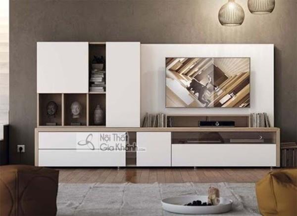 Mua ngay 35 mẫu kệ tivi màu trắng siêu đẹp giúp không gian nhà thêm sang trọng - mua ngay 50 mau ke tivi mau trang sieu dep giup khong gian nha them sang trong 57