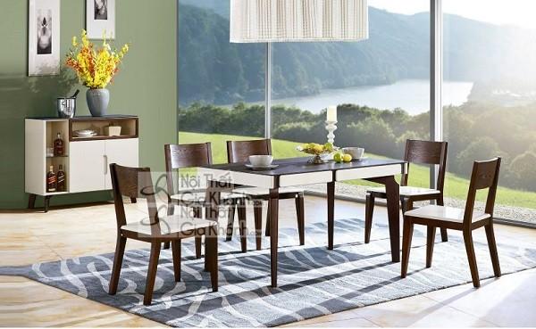 Những bộ bàn ghế ăn gỗ sồi 4 ghế, 6 ghế, 8 ghế được ưa chuộng nhất - nhung bo ban ghe an go soi 4 ghe 6 ghe 8 hhe duoc ua chuong nhat thi truong 6