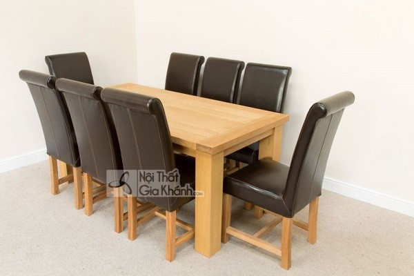 Những bộ bàn ghế ăn gỗ sồi 4 ghế, 6 ghế, 8 ghế được ưa chuộng nhất - nhung bo ban ghe an go soi 4 ghe 6 ghe 8 hhe duoc ua chuong nhat thi truong 7