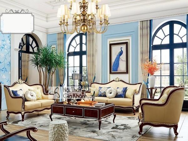 Top những bộ bàn ghế tân cổ điển phòng khách tinh tế bậc nhất - top nhung bo ban ghe tan co dien phong khach tinh te bac nhat 2
