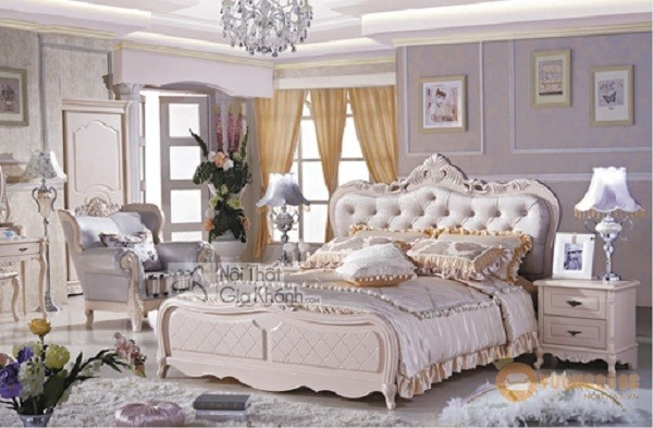 Những mẫu giường ngủ phong cách cổ điển cho gia chủ ưa sự quyền quý - nhung mau giuong ngu phong cach co dien cho gia chu ua su quyen quy 9