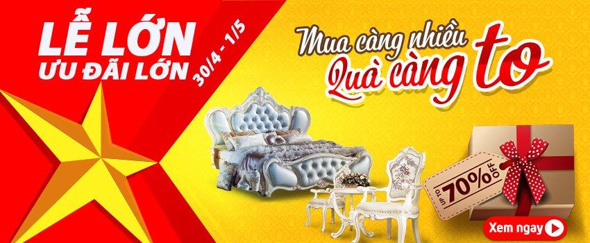 Siêu thị nội thất nhập khẩu top 1 Hà Nội - mung dai le uu dai lon 1